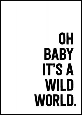 Plakat Oh baby it's a wild world