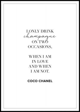 Plakat Champagne Coco Chanel