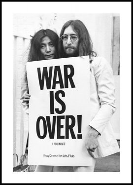 Plakat War is Over John Lennon