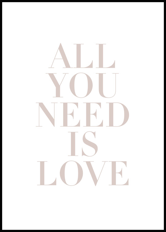 Plakat All You Need Is Love