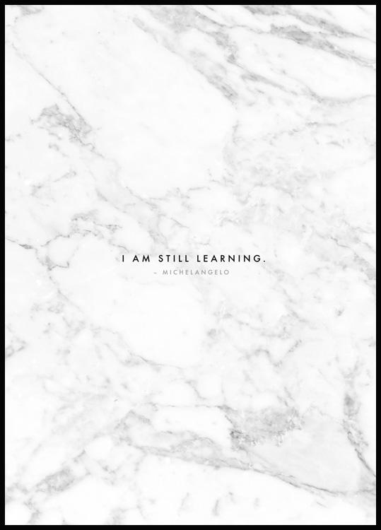 Plakat I am still Learning