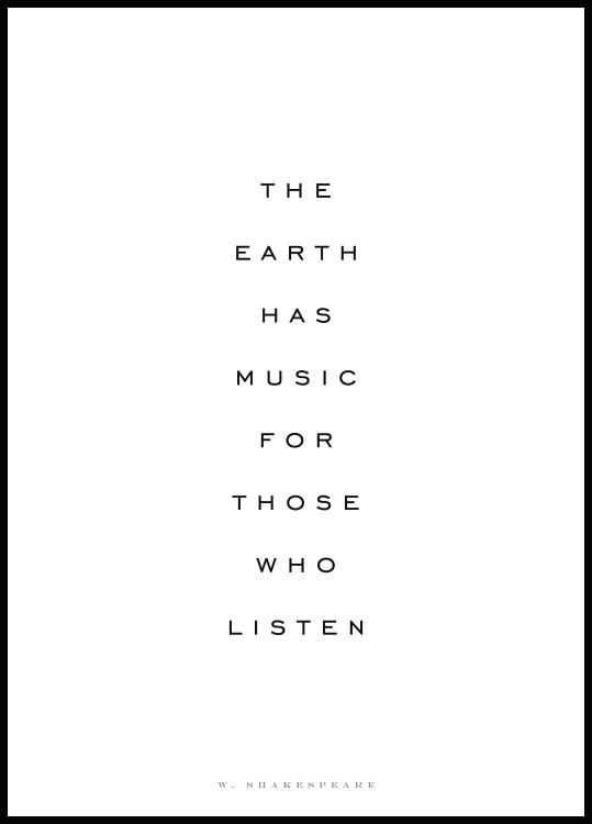 Plakat The Earth Has Music