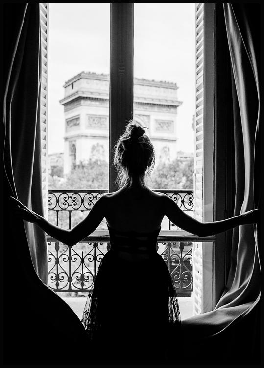 Plakat Girl in Paris Window